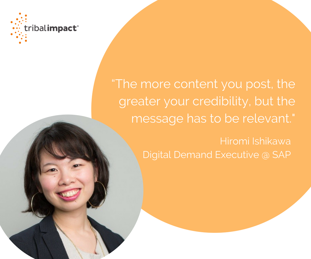 """""""The more content you post, the greater your credibility, but the message has to be relevant._"""