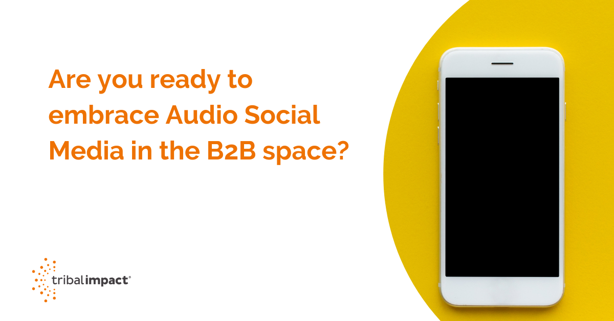 Are you ready to embrace Audio Social Media in the B2B space?