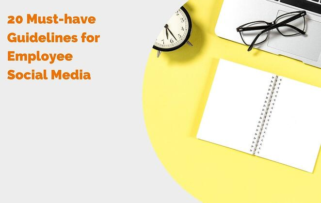 20 Must-have Guidelines for Employee Social Media header