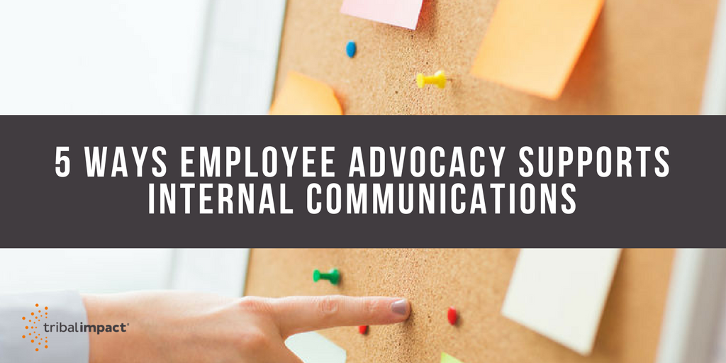 5 ways employee advocacy supports internal communications banner