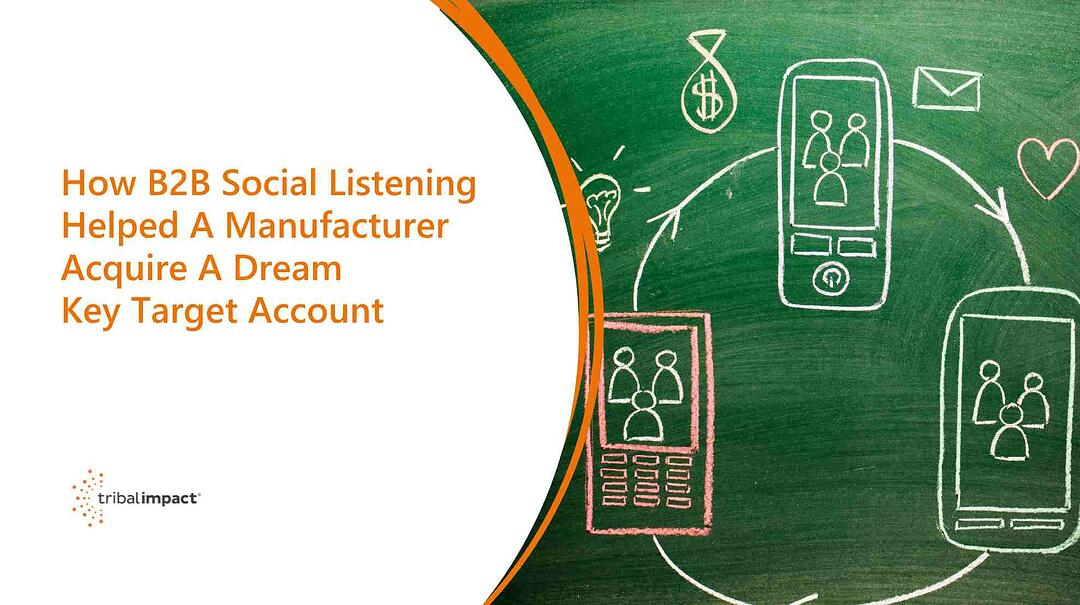 How B2B Social Listening Helped A Manufacturer Acquire A Dream Key Target Account