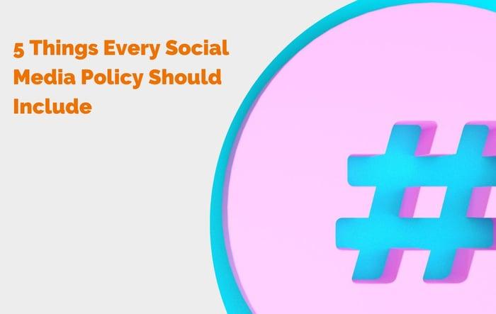 social media guidelines header