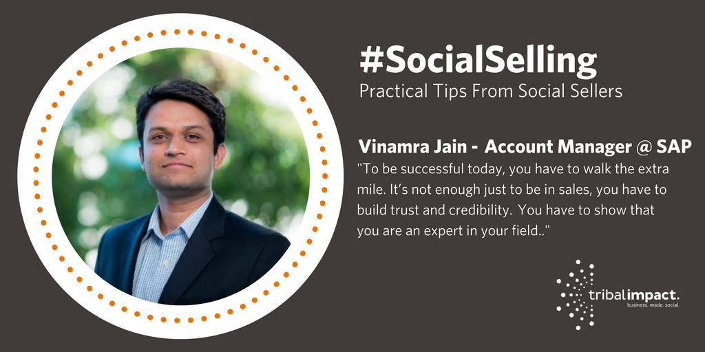 Vinamra Jain Social Selling