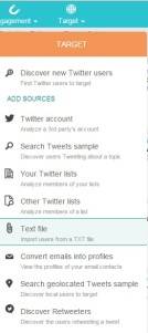 How to build a Twitter List SocialBro Import Text
