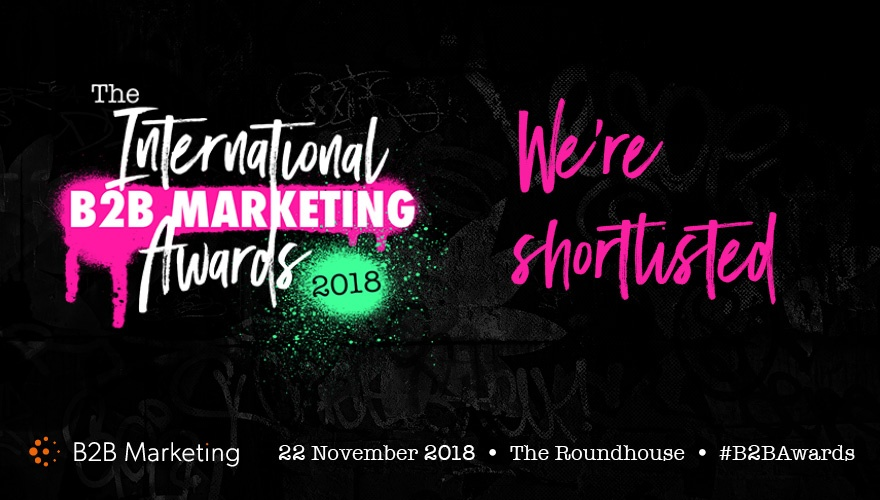 We excited to be shortlisted for the 2018 International B2B Marketing Awards!