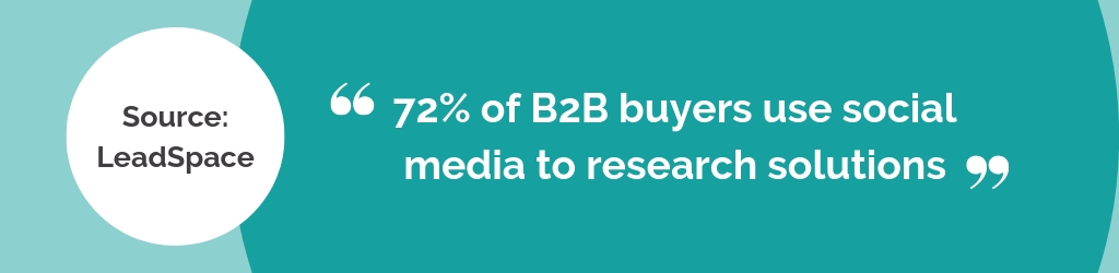 84 of B2B executives use social media as a source for making purchase decisions