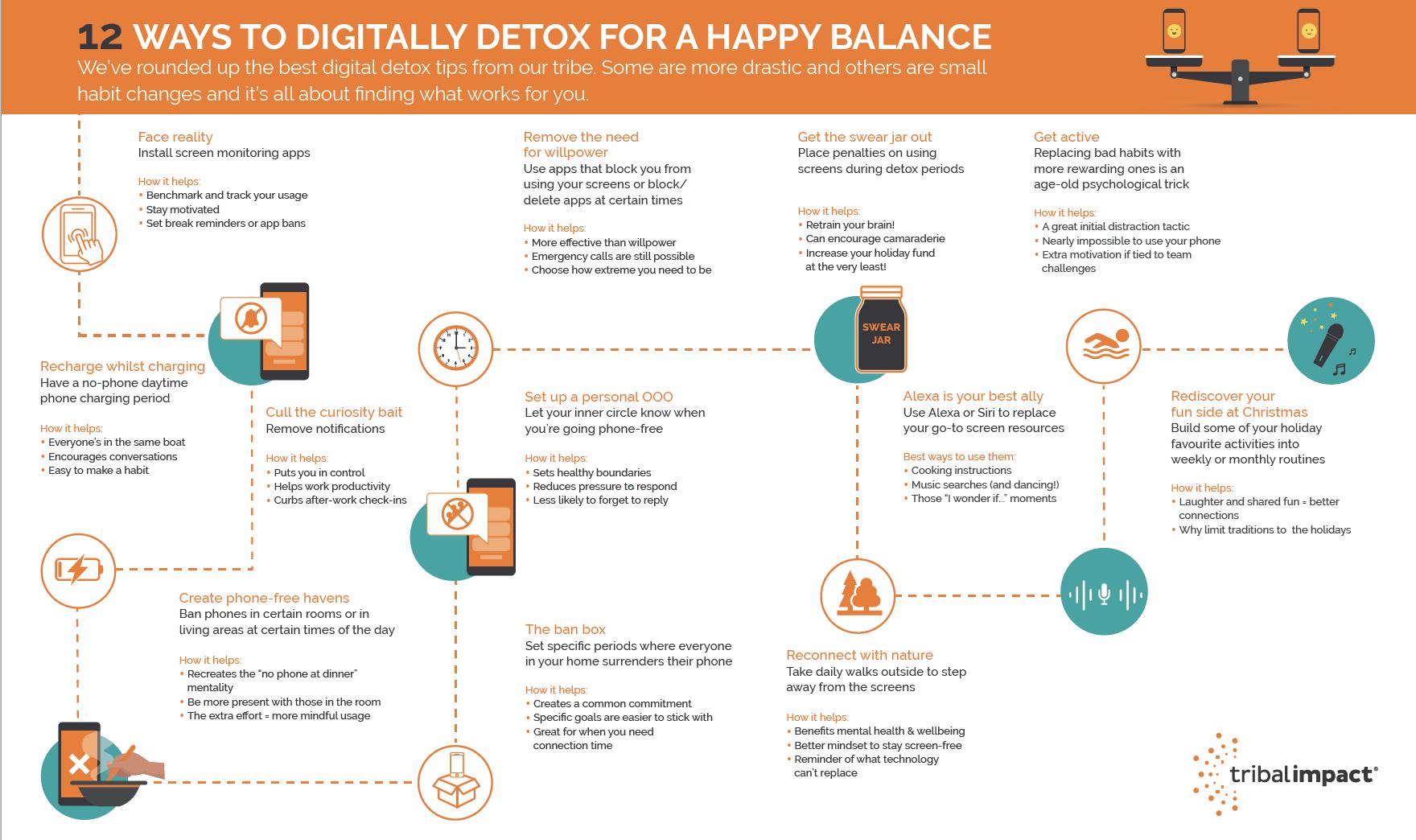 Digital Detox Infographic Image