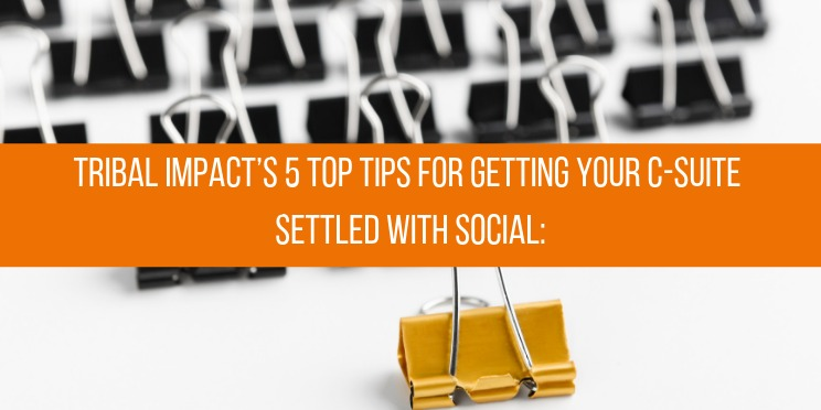 Tribal Impacts 5 top tips for getting your CSuite settled with social