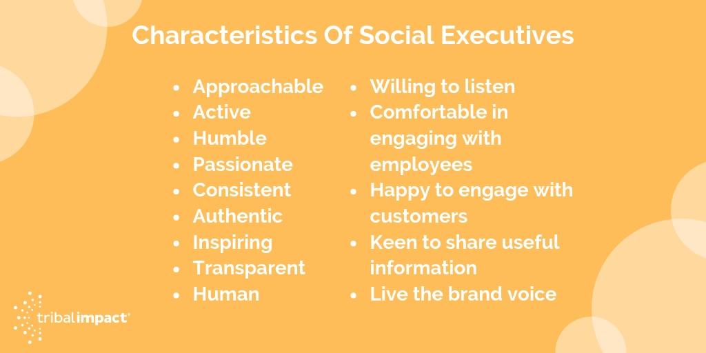 characteristics of social executive
