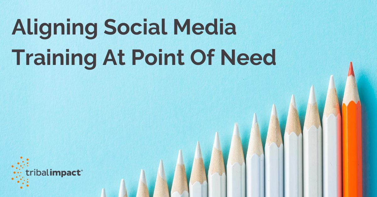 Learning and development Aligning Social Media Training At Point Of Need