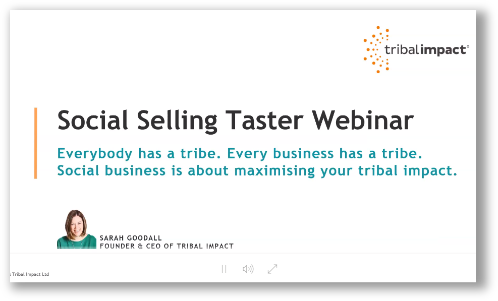 social selling taster webinar