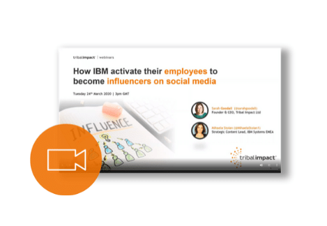 How IBM activate their employees to become influencers on social media