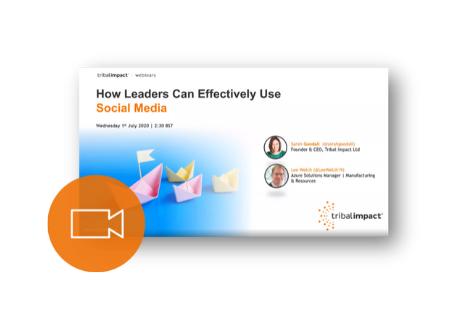 social leadership webinar lee welch
