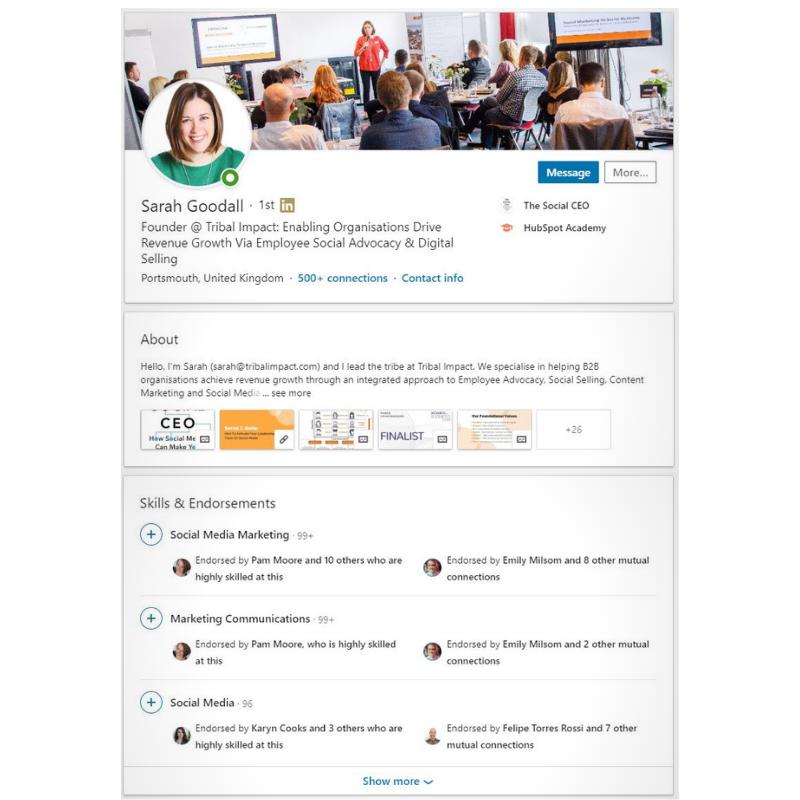 Social Media Profile Optimisation & Coaching profile
